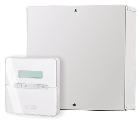 ABUS Alarmzentrale AZ4150 Kompakt - mit Bedienteil - linke Frontansicht