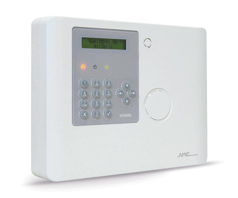 AMC Funk Alarmzentrale XR800 mit GSM-GPRS-Wählgerät  -Vorderansicht rechts
