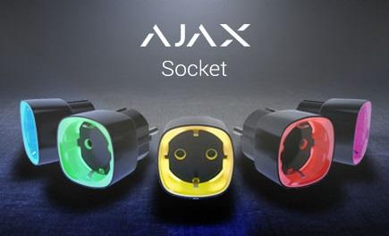 Ajax Socket Leistungsaufnahmeanzeige durch LED-Randfarben