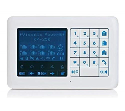 Visonic PowerG PowerMaster LCD-Funk-Bedienteil KP-250 PG2