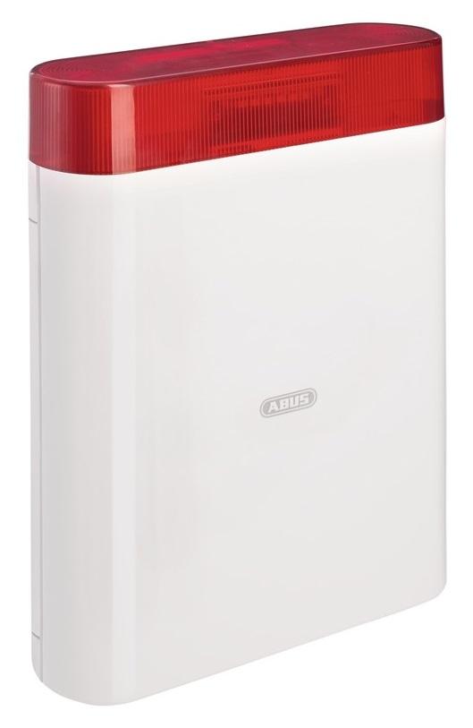 Außen-Sirene 12V mit LED-Blitz, rot | ABUS AZSG10000 - Vorderansicht rechts