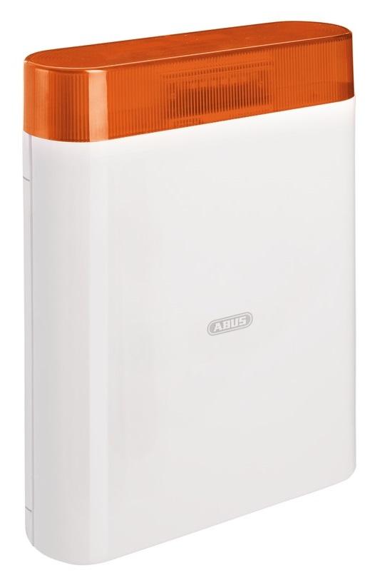 Sirene 12V mit LED-Blitz, orange | ABUS AZSG10005 - Vorderansicht rechts