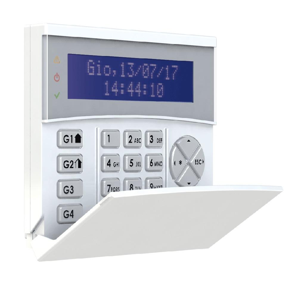 AMC Funk-LCD-Bedienteil K-LCDW800 mit geöffnetem Deckel