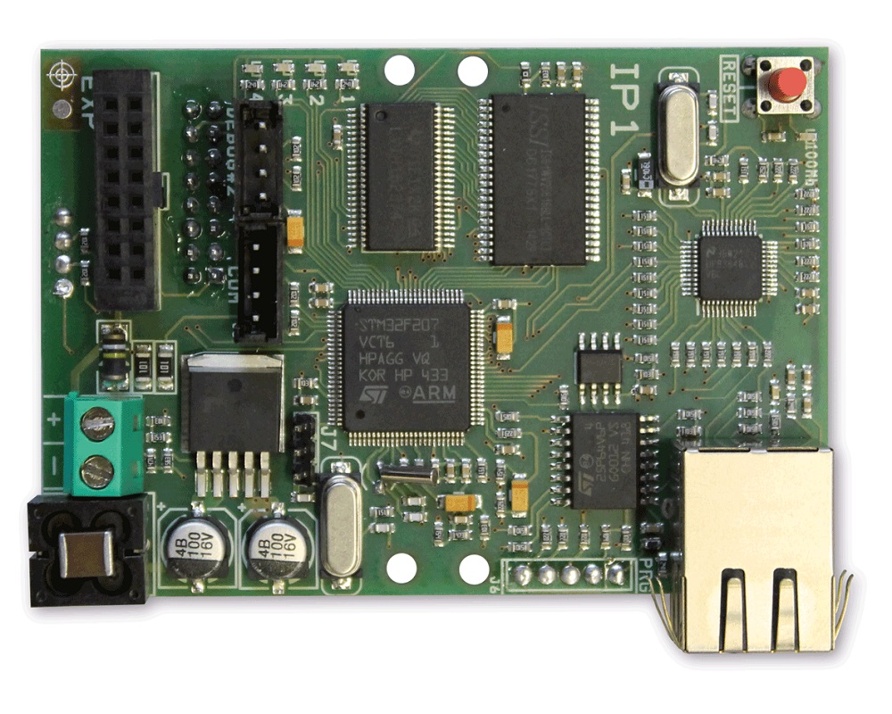 AMC IP-Modul (Netzwerkmodul) IP1 - Platinenversion Vorderansicht