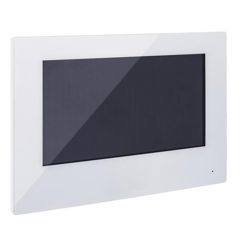 """ABUS 7"""" 2-Draht Touch Monitor TVHS20210, weiß - für Türsprechanlage ModuVis"""