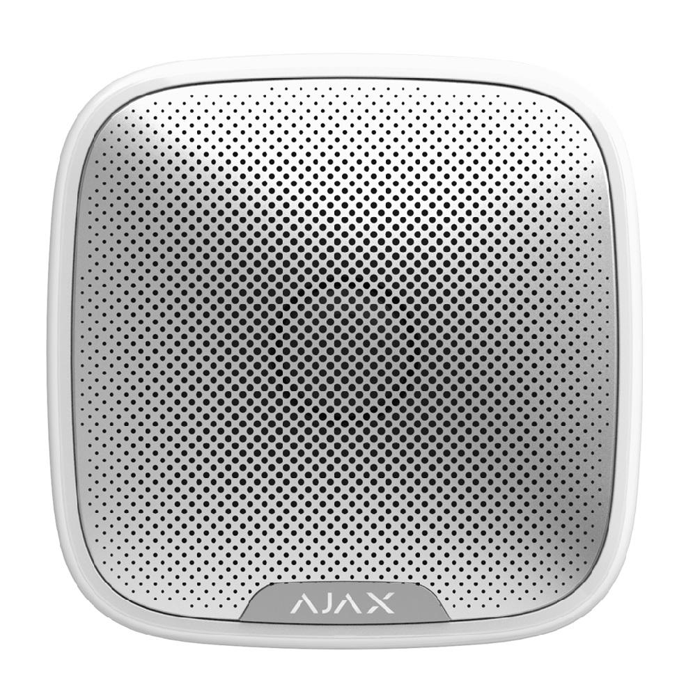 AJAX drahtlose Außensirene - StreetSiren, weiß - Vorderansicht
