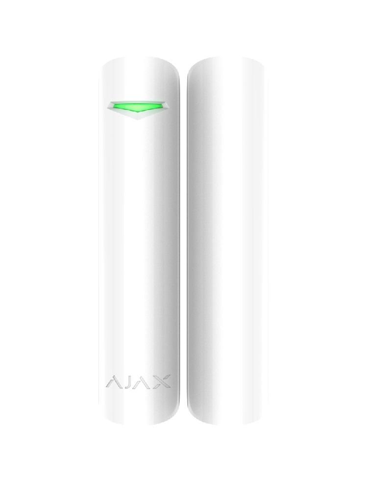 Ajax DoorProtect Plus, weiß – Funk-Öffnungs- und Erschütterungsmelder + Neigungssensor - Vorderansicht