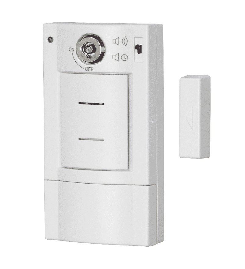 Türalarm (Magnetkontakt) mit Schlüsselschalter | Pentatech DG 6
