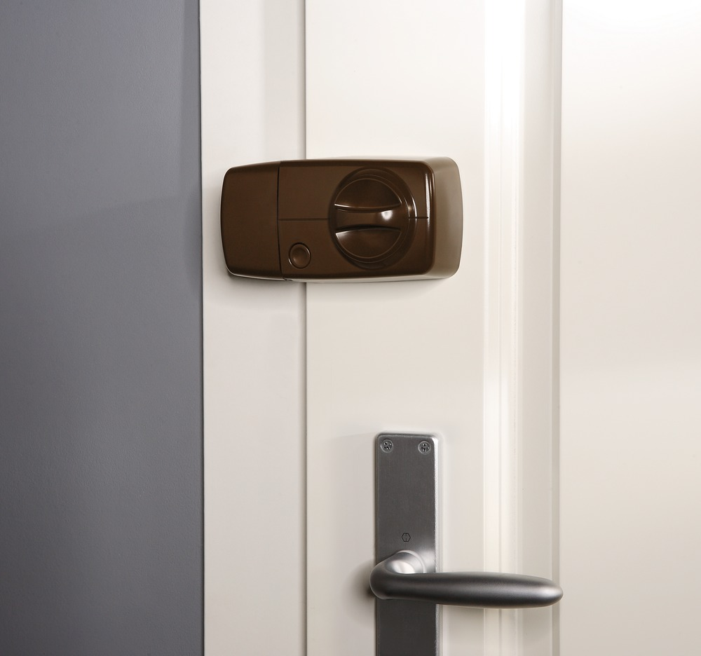 Funk Tür-Zusatzschloss - ABUS FUFT50011B montiert
