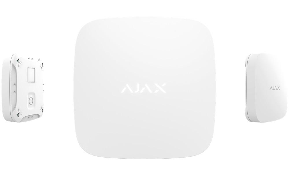 Ajax Funk Flüssigkeitsmelder, weiß - Ansicht frontal, hinten, Seite