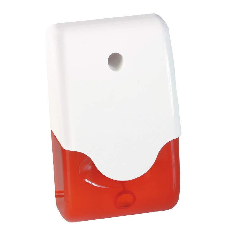 ABUS 12V Kombi-Signalgeber SG1681 mit rotem Blitzlicht