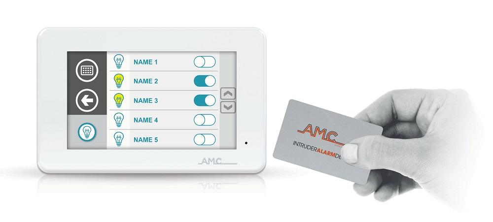 AMC Touch Bedienteil Unika | Anwendungsbeispiel mit Chip-Karte