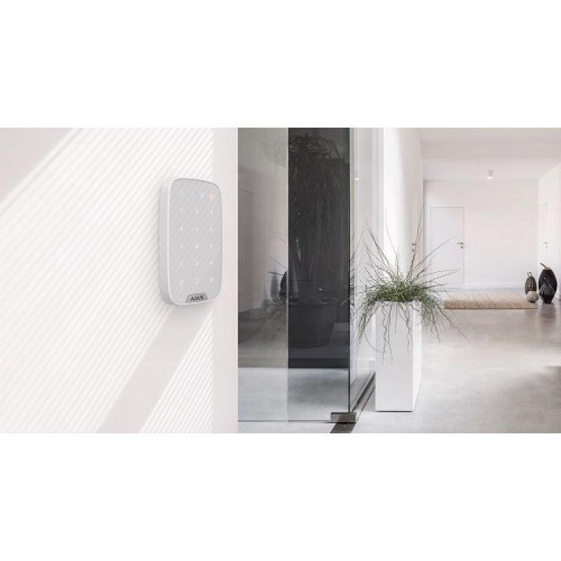 Ajax KeyPad weiß - Wandmontage