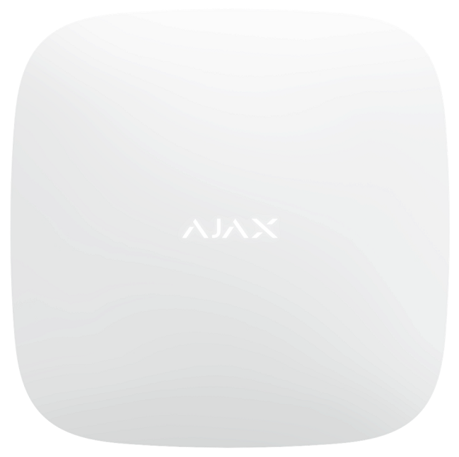 Ajax Hub 2 - Vorderansicht weiß