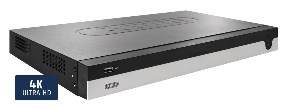 ABUS 8 Kanal Netzwerkvideorekorder (NVR) NVR10020 - Vorderansicht rechts
