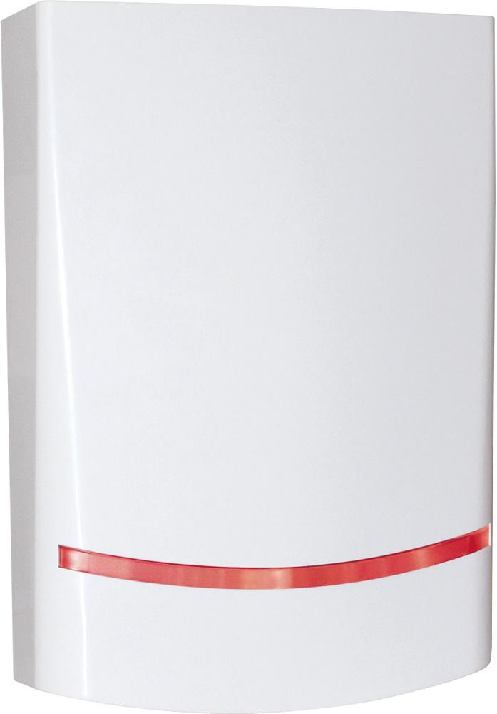 AMC Funk-Außensirene SRL800, weiß, bidirektional - Vorderansicht rechts
