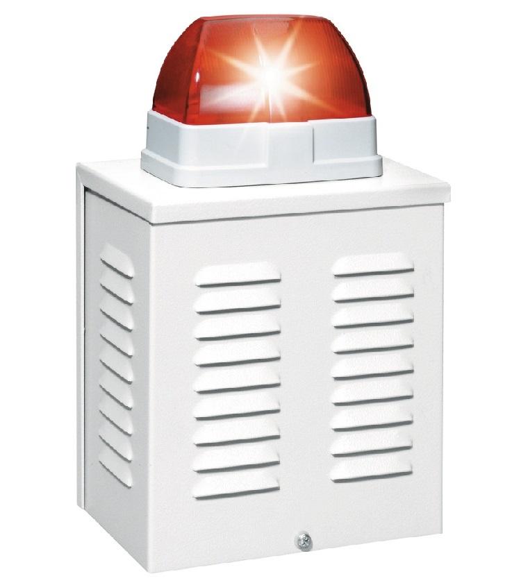 Draht-Außensirene 12V mit Blitzleuchte| ABUS SG1650 - Vorderansicht rechts