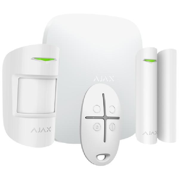 """AJAX Starterset """"Plus"""" weiß > inkl. Zentrale, Bewegungsmelder, Öffnungsmelder, Fernbedienung"""