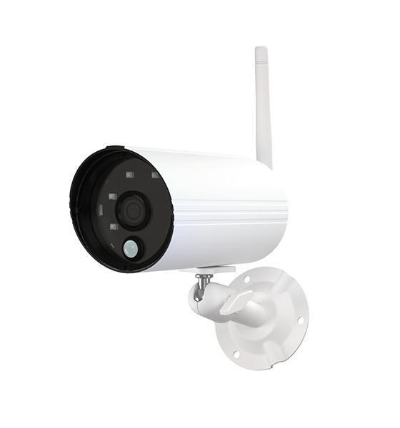 ABUS PPDF14520W | OneLook Funk Außenkamera, weiß - Vorderansicht links