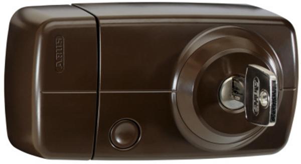 Secvest FUFT50021B Funk-Türzusatzschloss mit Innenzylinder – 7025 E (braun)