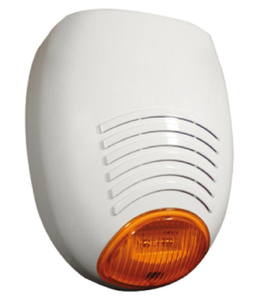 Signalgeber mit LED-Blitzleuchte orange | AMC SR136 | Vorderansicht rechts