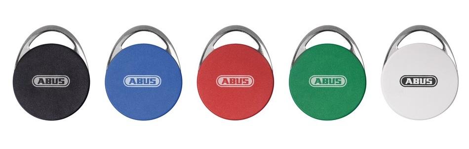 wAppLoxx RFID Chips, bunt (5er Set) | ABUS ACTP00001 - in Reihe