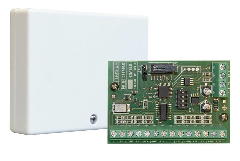 AMC 8 Zonen Erweiterungsmodul KX-in | Platine mit Kunststoffgehäuse - Vorderansicht