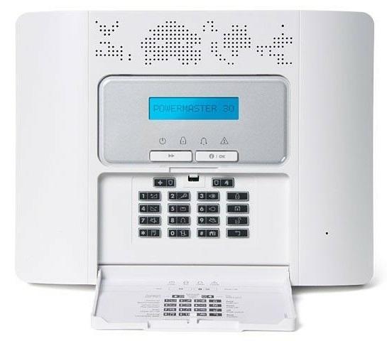 Visonic PowerG Powermaster-30 G2 Alarm Zentrale - Bedienfeld offen