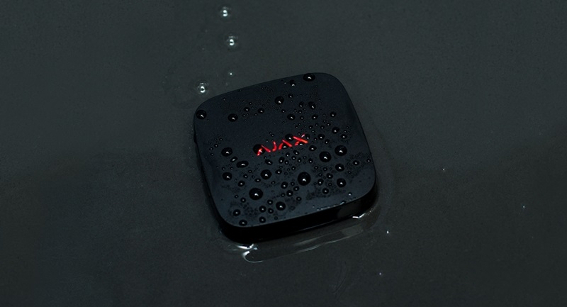 Ajax Funk Wassermelder, schwarz - Anwendungsbeispiel