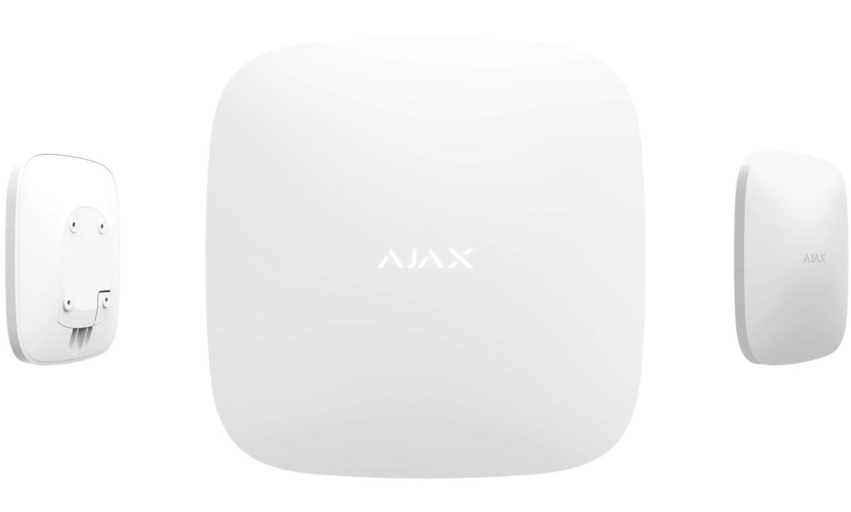 Ajax Hub 2 weiß | Ansichten vorne - hinten - Seite