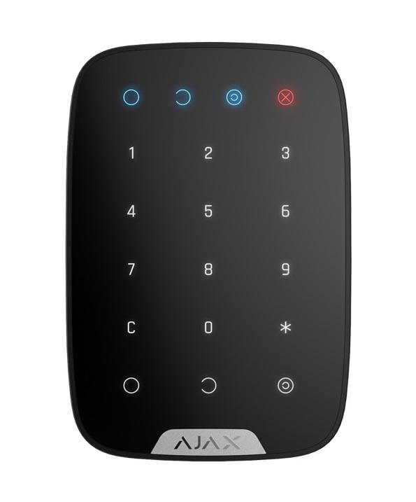 Ajax KeyPad schwarz – Funk Touch Bedienteil - frontal