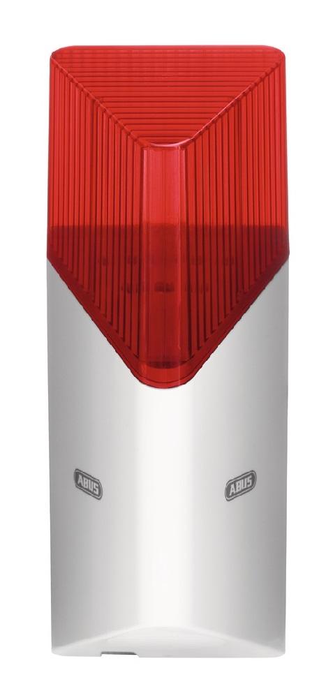 Smartvest Funk-Sirene - drahtlose Sirene mit roter Blitzleuchte