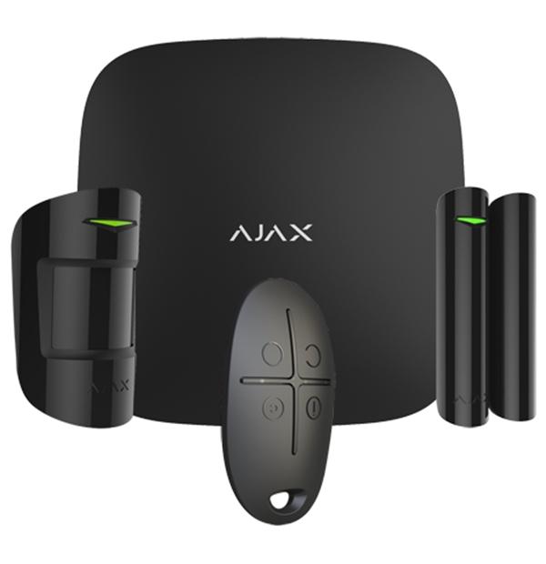 """AJAX Starterset """"Plus"""" schwarz > inkl. Zentrale, Bewegungsmelder, Öffnungsmelder, Fernbedienung"""