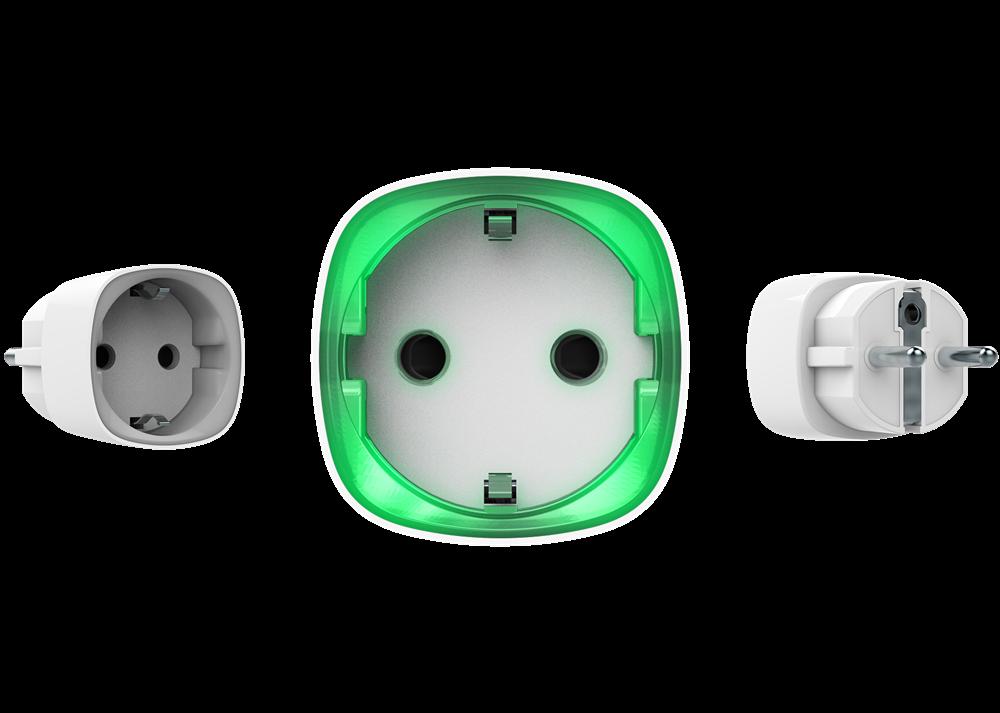 Ajax Funk Steckdosenadapter, weiß | Ansichten vorne - hinten - Seite