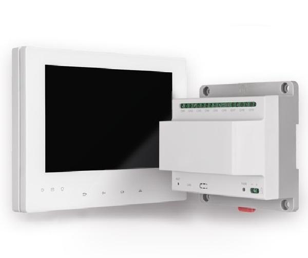 Innenstation Set für IP Kameras (Monitor / Verteiler) | Abus TVHS10110