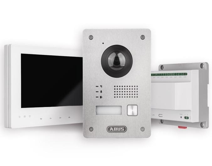 ABUS TVHS10100 - Videotürsprechanlage Set (Türstation / Monitor / Verteiler)